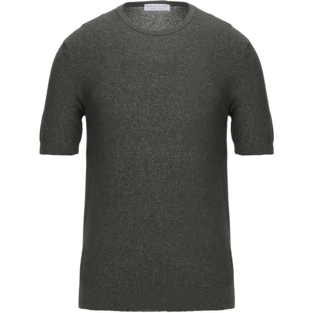 フィリッポ デ ローレンティス メンズ トップス ニット セーター DE 売店 Sweater サイズ交換無料 FILIPPO 2020モデル LAURENTIIS Military green