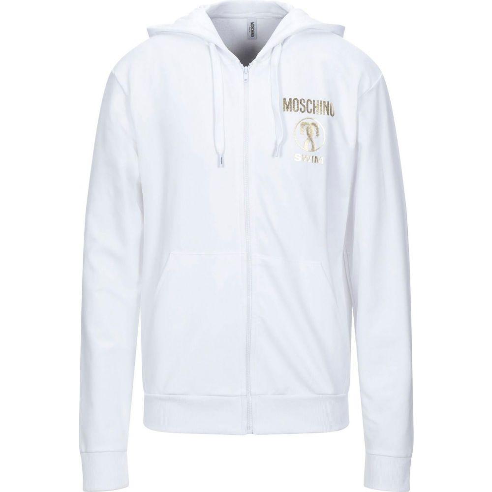 気質アップ モスキーノ スウェット・トレーナー MOSCHINO Sweatshirt】White メンズ スウェット・トレーナー トップス トップス【Hooded【Hooded Sweatshirt】White, 西田川郡:288db3f9 --- rishitms.com