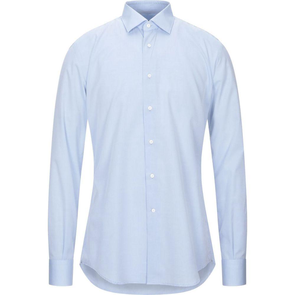 入園入学祝い デルシエナ DEL SIENA メンズ シャツ トップス【Solid Color Shirt】Sky blue, クドウグン f8f9a889