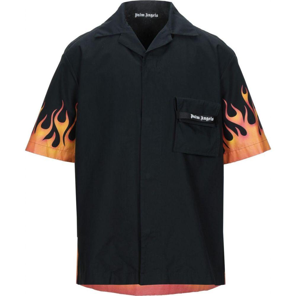 <title>パーム エンジェルス メンズ 特売 トップス シャツ Black サイズ交換無料 PALM ANGELS Solid Color Shirt</title>