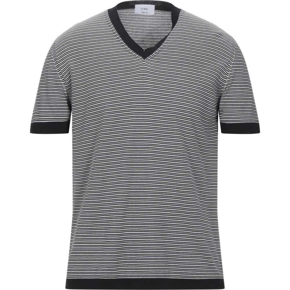 ファブリツィオ デル カルロ メンズ トップス 売れ筋 ニット セーター Black Sweater DEL 大放出セール CARLO サイズ交換無料 FABRIZIO