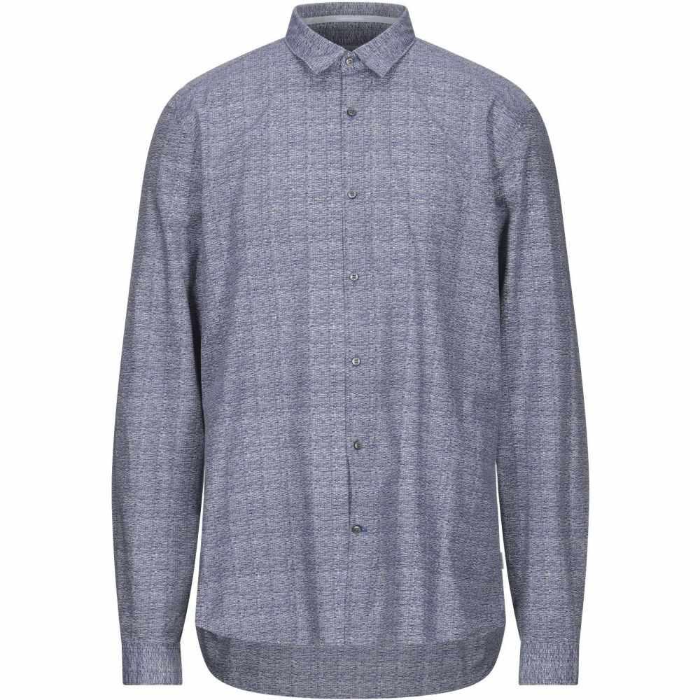 公式の店舗 カルバンクライン CALVIN KLEIN メンズ シャツ トップス【Patterned Shirt】Blue, コンタクトレンズ専門店 ボナンザ 67744a62