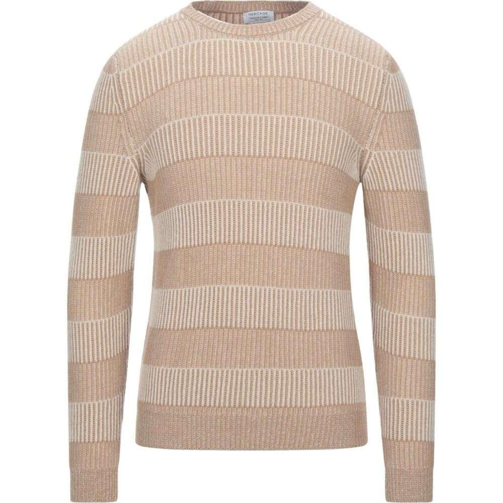 直営ストア ヘリテイジ メンズ トップス ニット 爆買い新作 セーター Sweater HERITAGE Camel サイズ交換無料