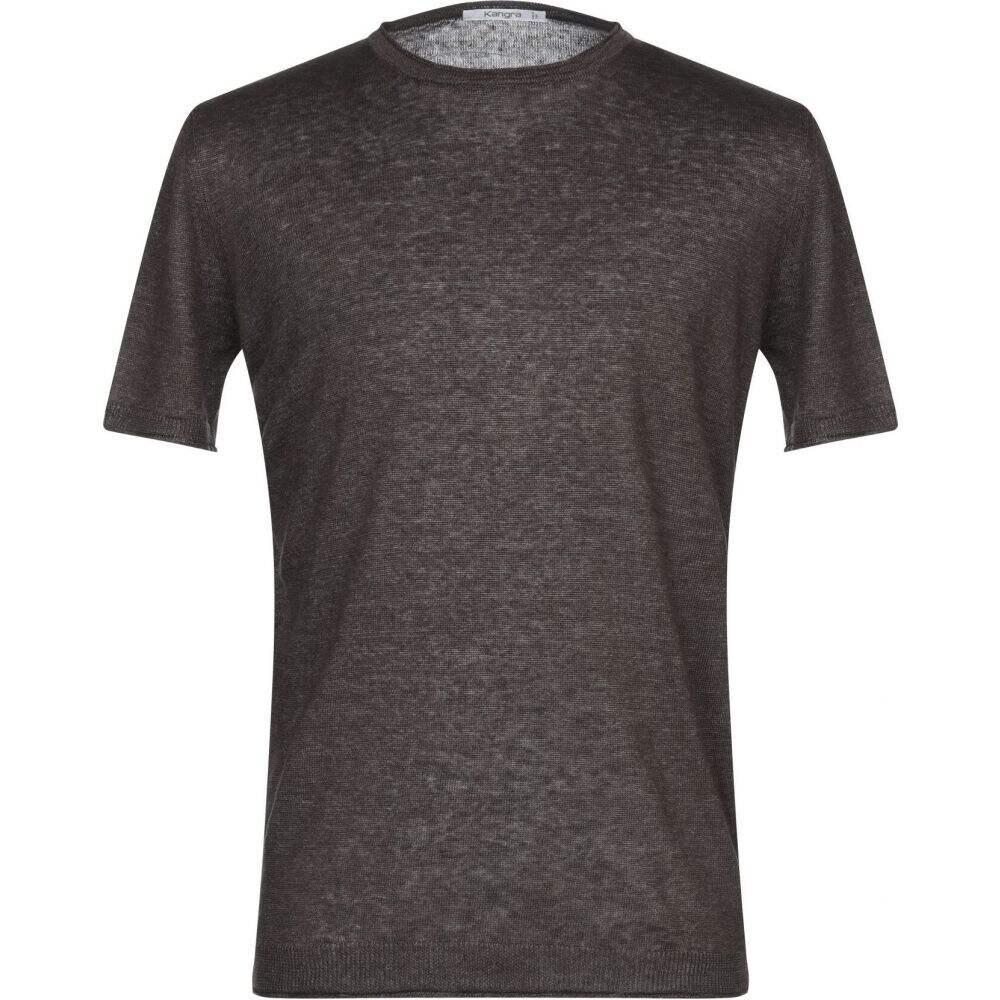 カングラ カシミア メンズ トップス ニット セーター brown 並行輸入品 KANGRA Sweater メーカー直売 サイズ交換無料 Dark CASHMERE