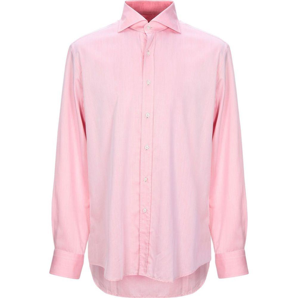 ザカス XACUS メンズ シャツ トップス【solid color shirt】Light pink