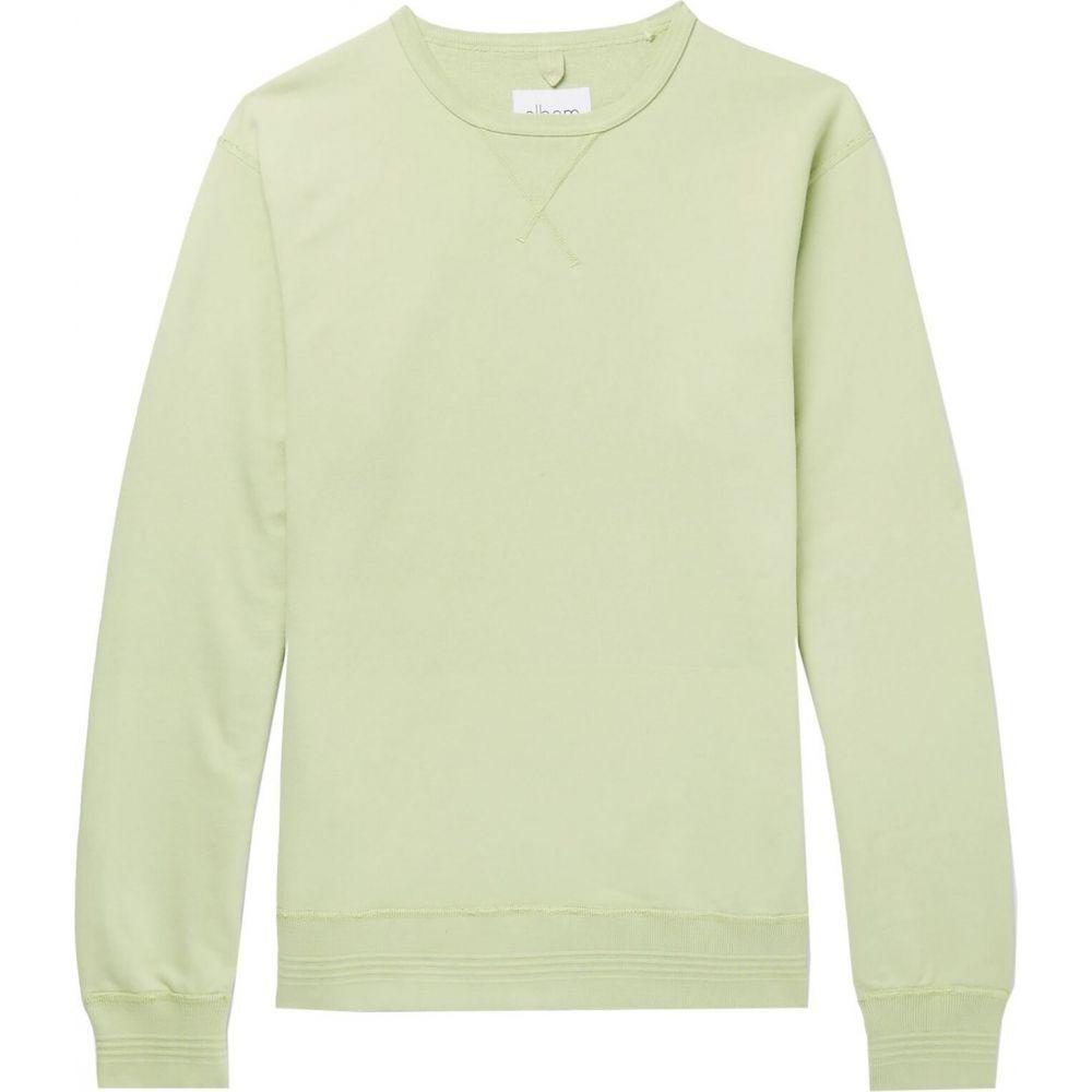 アルバム ALBAM メンズ スウェット・トレーナー トップス【sweatshirt】Light green