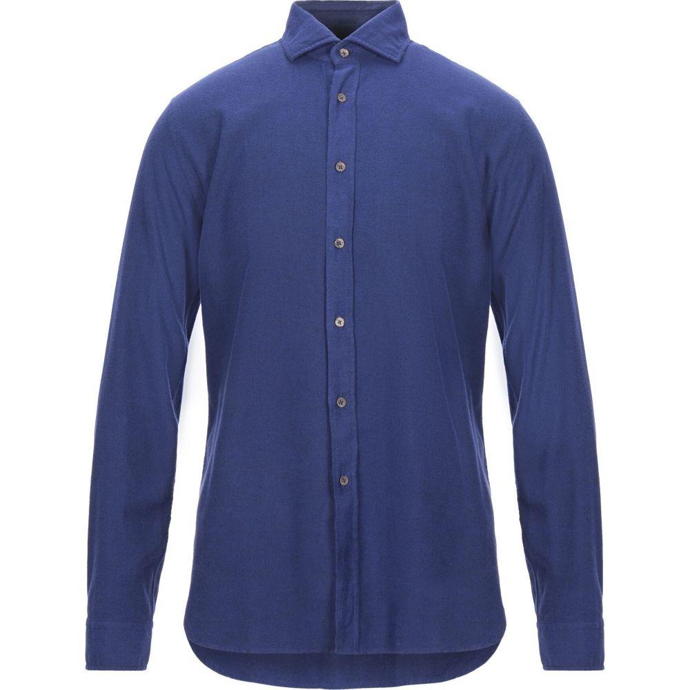ザカス XACUS メンズ シャツ トップス【solid color shirt】Blue