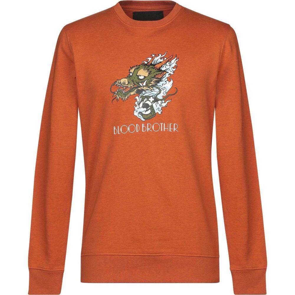 ブラッドブラザー BLOOD BROTHER メンズ スウェット・トレーナー トップス【sweatshirt】Orange