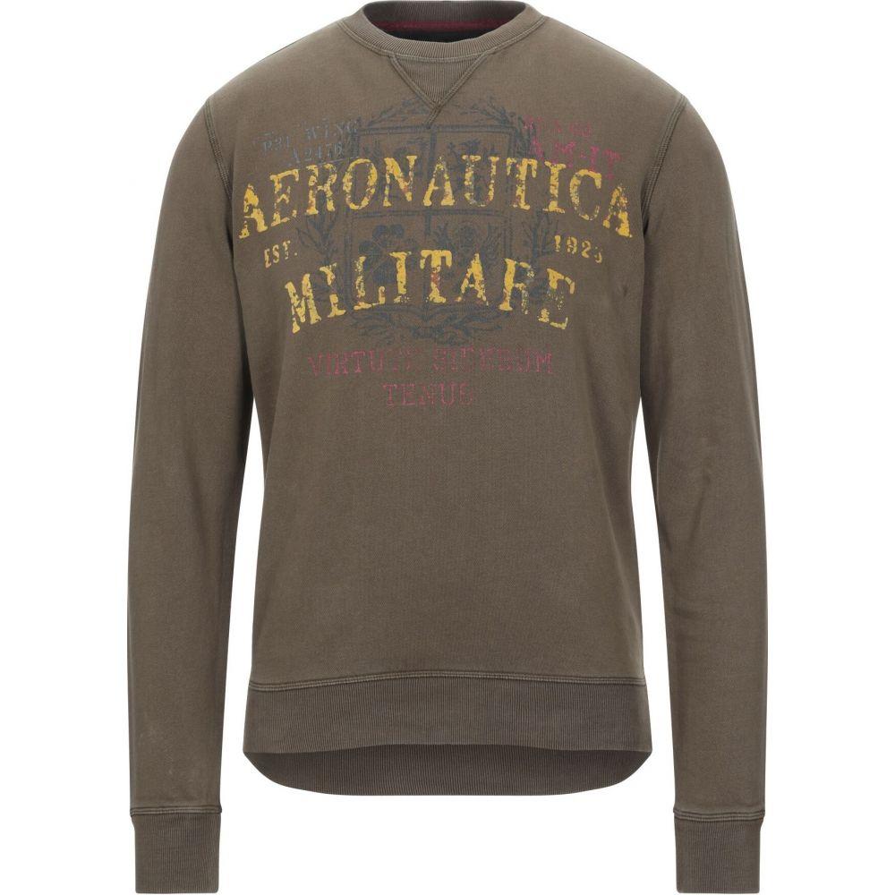 アエロナウティカ ミリターレ AERONAUTICA MILITARE メンズ スウェット・トレーナー トップス【sweatshirt】Military green