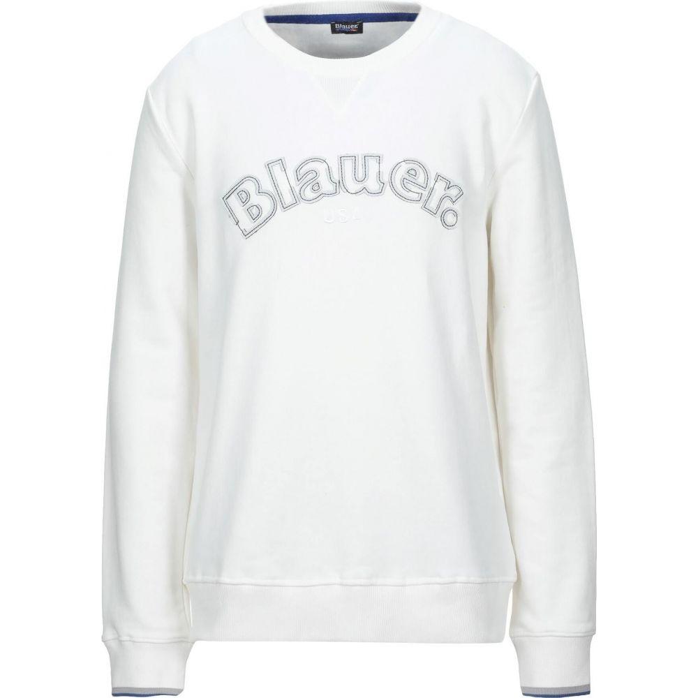 ブラウアー BLAUER メンズ スウェット・トレーナー トップス【sweatshirt】White