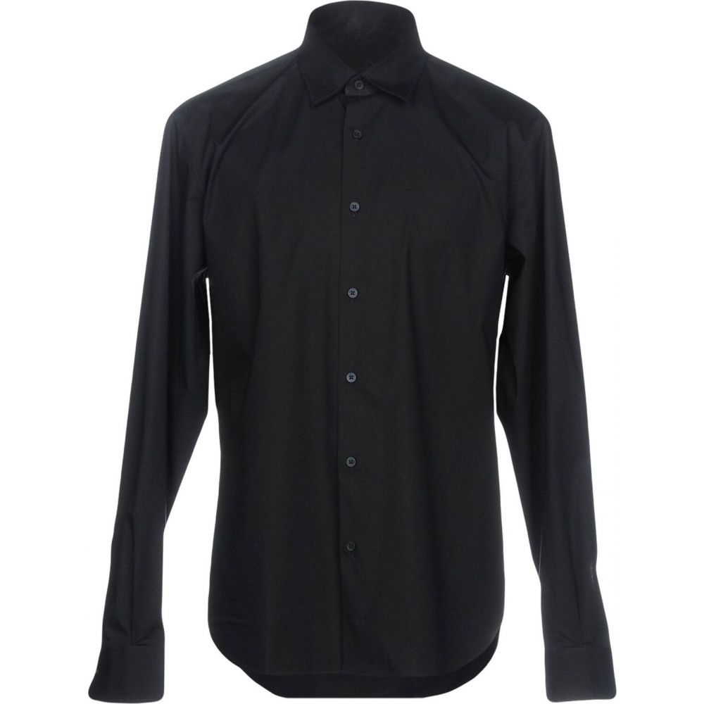 ZZEGNA メンズ シャツ トップス【solid color shirt】Dark blue