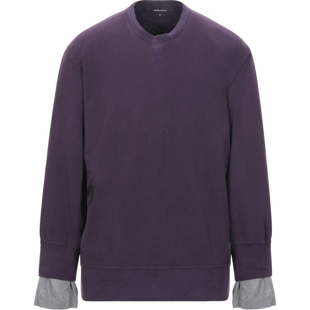 アンドゥムルメステール ANN DEMEULEMEESTER メンズ スウェット・トレーナー トップス【sweatshirt】Dark purple