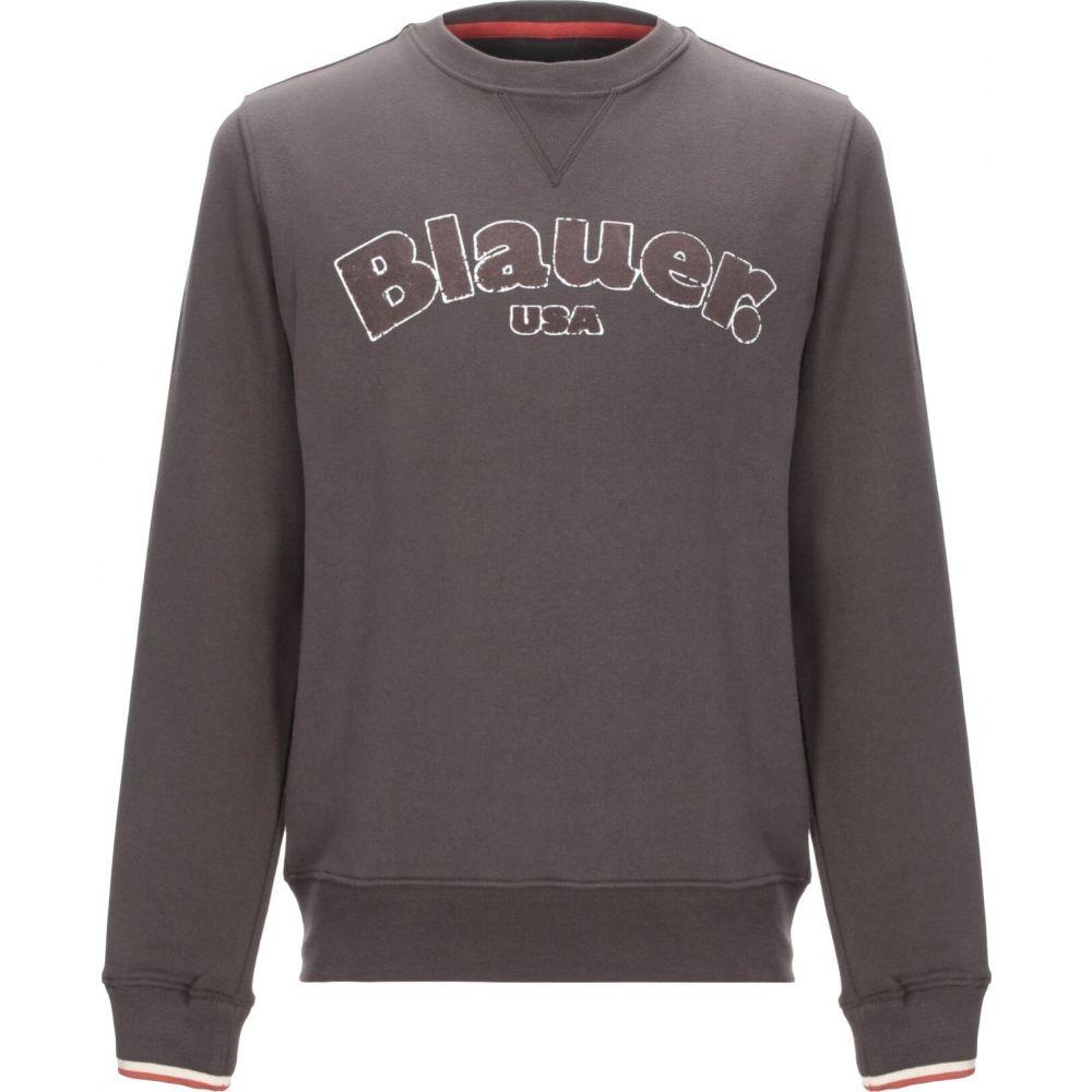 ブラウアー BLAUER メンズ スウェット・トレーナー トップス【sweatshirt】Dark brown