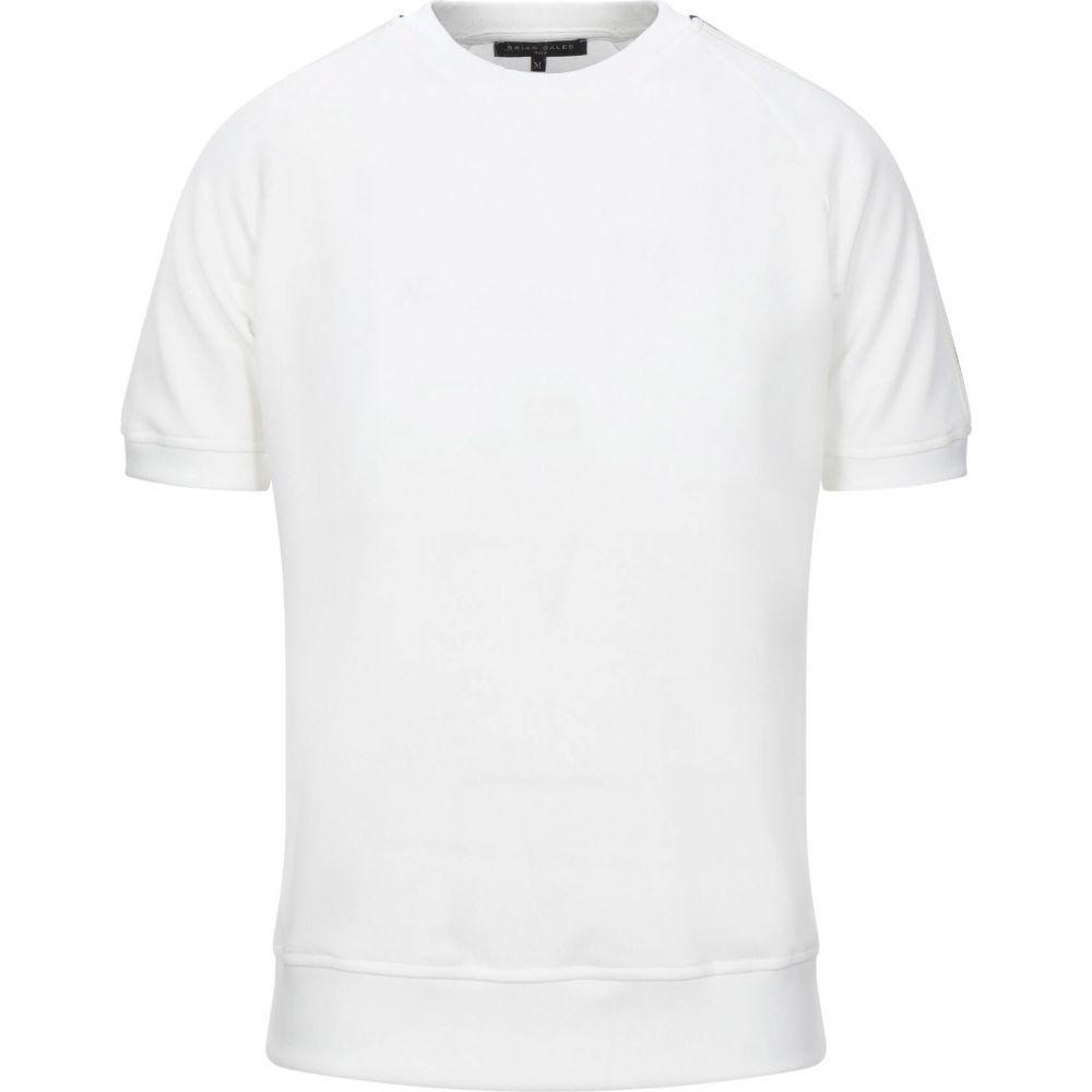 ブライアン デールズ BRIAN DALES メンズ スウェット・トレーナー トップス【sweatshirt】White