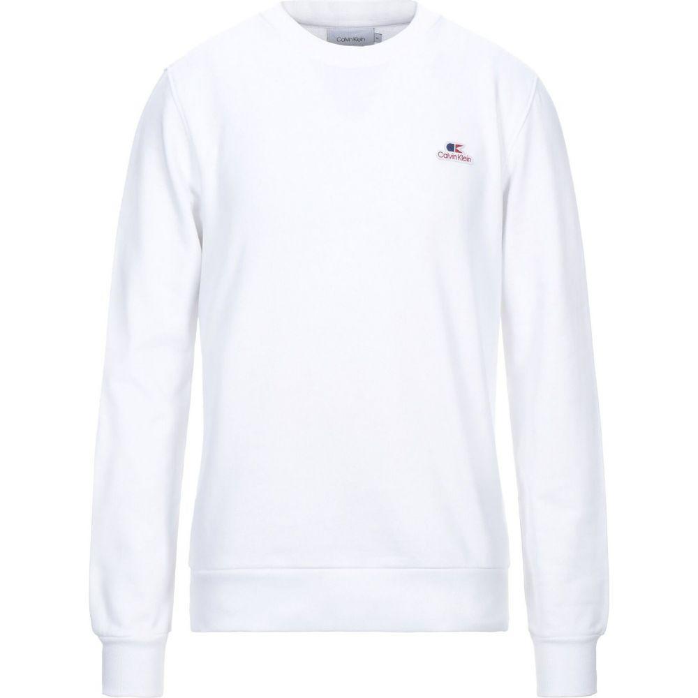 カルバンクライン CALVIN KLEIN メンズ スウェット・トレーナー トップス【sweatshirt】White