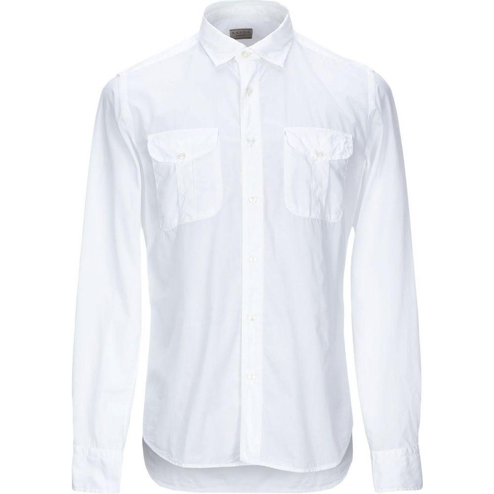 ザカス XACUS メンズ シャツ トップス【solid color shirt】White