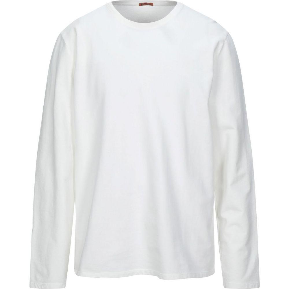 バレナ BARENA メンズ スウェット・トレーナー トップス【sweatshirt】White