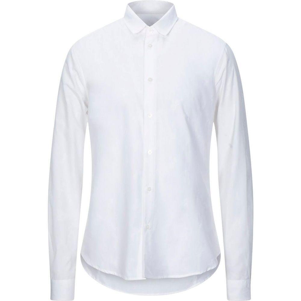 ヴェルサーチ VERSACE JEANS メンズ シャツ トップス【solid color shirt】White