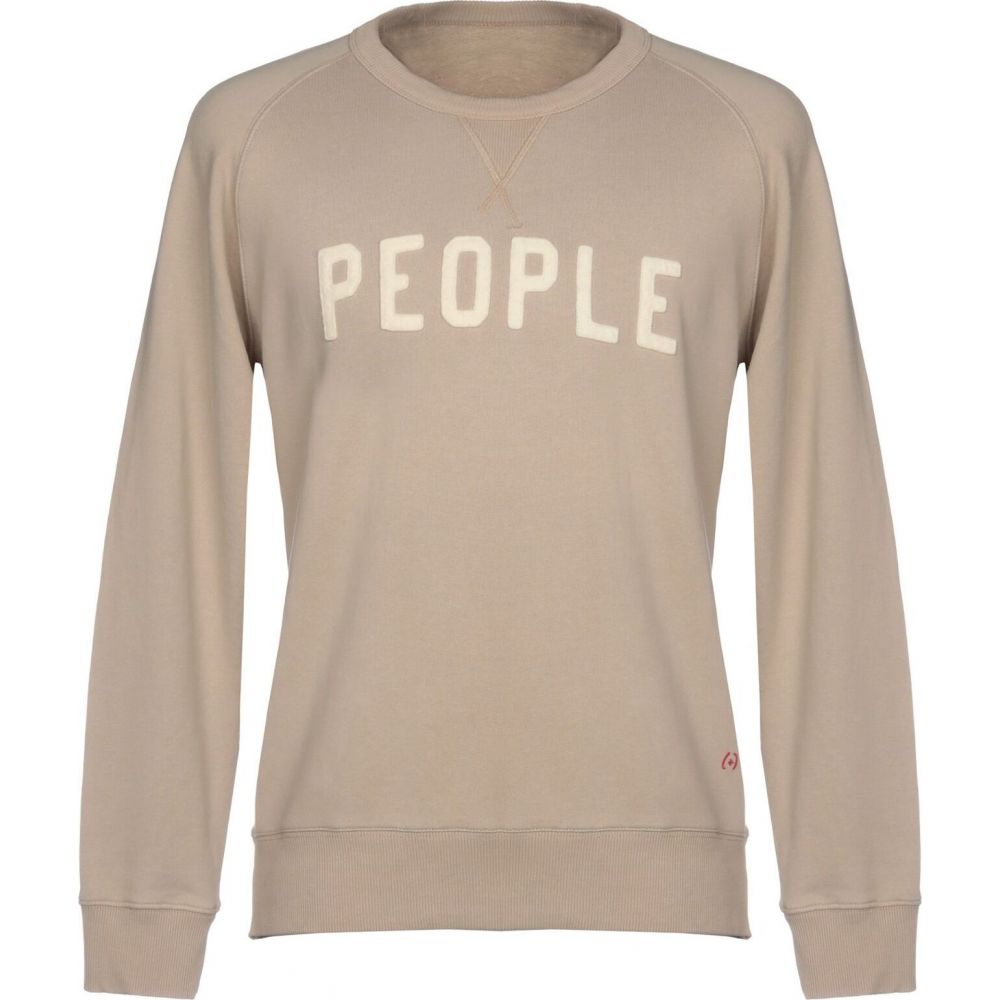 プラスピープル (+) PEOPLE メンズ スウェット・トレーナー トップス【sweatshirt】Beige