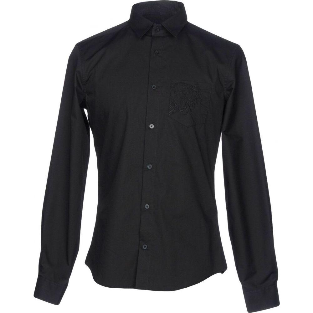 ヴェルサーチ VERSACE JEANS メンズ シャツ トップス【solid color shirt】Black