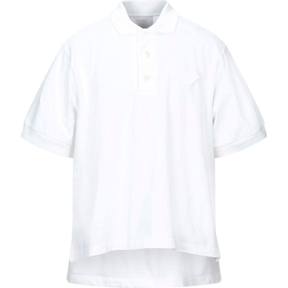 激安正規品 プラダ ポロシャツ プラダ PRADA メンズ ポロシャツ トップス【Polo Shirt トップス【Polo】White, 三重町:33f23038 --- tedlance.com