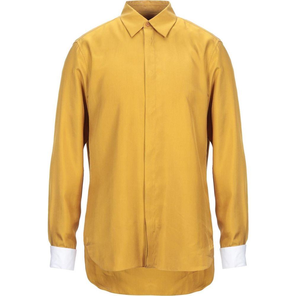 ロベルト 人気ブランド カヴァリ メンズ トップス シャツ Ocher ハイクオリティ Solid Shirt CAVALLI ROBERTO Color サイズ交換無料