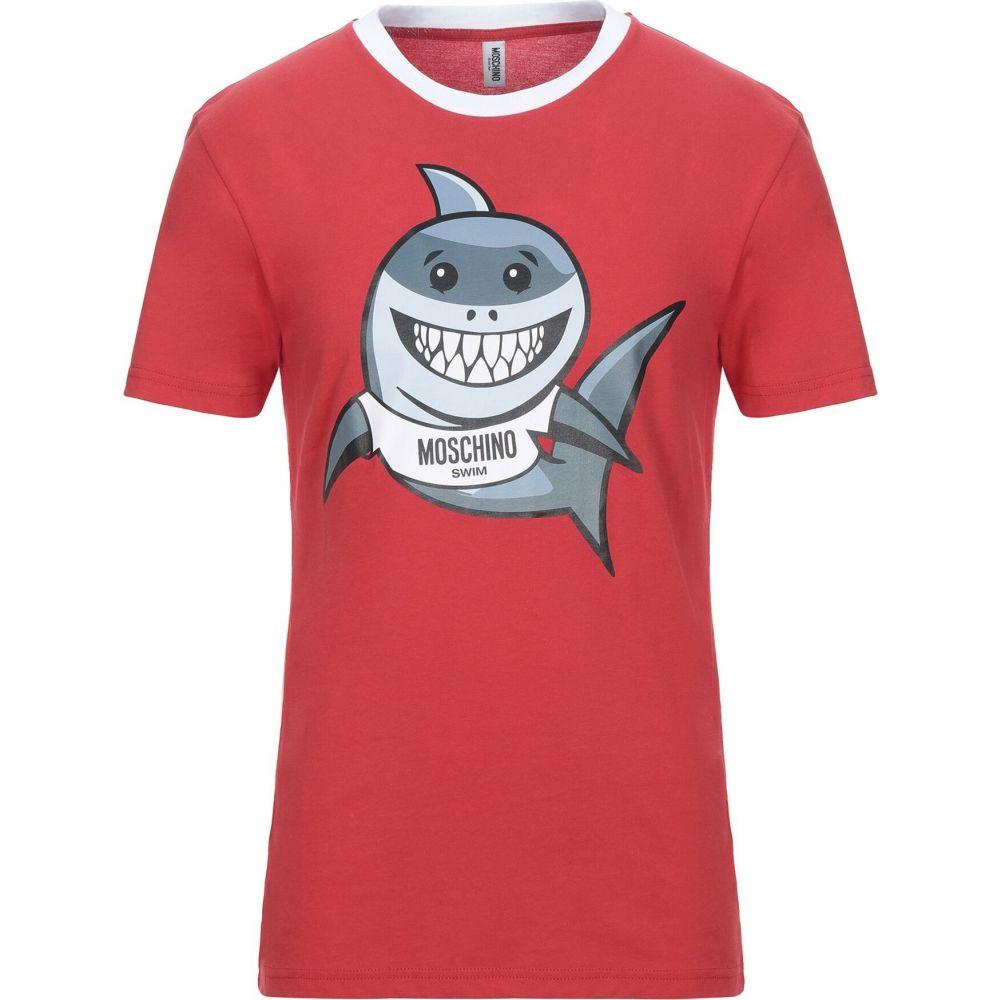 【 開梱 設置?無料 】 モスキーノ MOSCHINO メンズ Tシャツ トップス MOSCHINO【T-Shirt Tシャツ メンズ】Red, ノギマチ:34713b8e --- delipanzapatoca.com