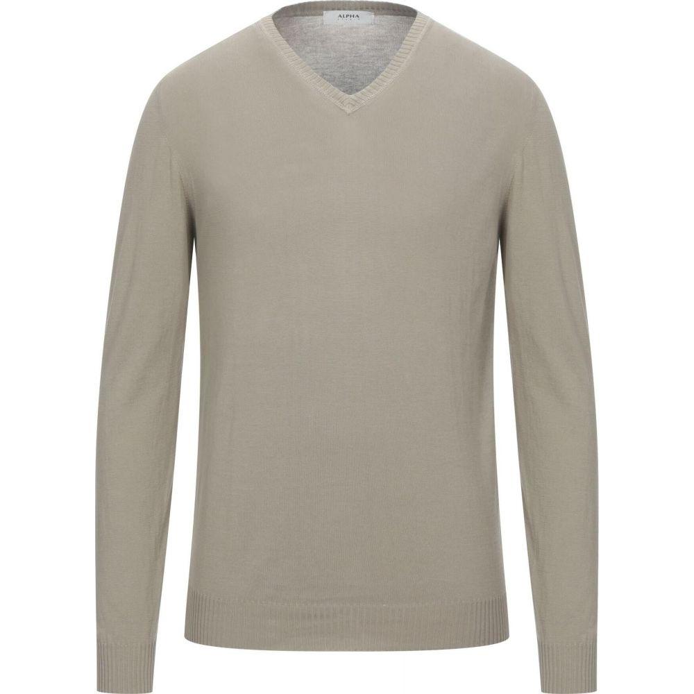 アルファス テューディオ メンズ 返品送料無料 トップス ニット セーター ALPHA Sand サイズ交換無料 予約販売 STUDIO Sweater