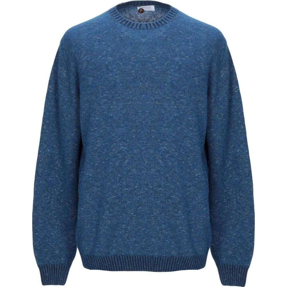 ヘリテイジ メンズ 付与 トップス ニット セーター HERITAGE Azure 人気ブランド多数対象 Sweater サイズ交換無料