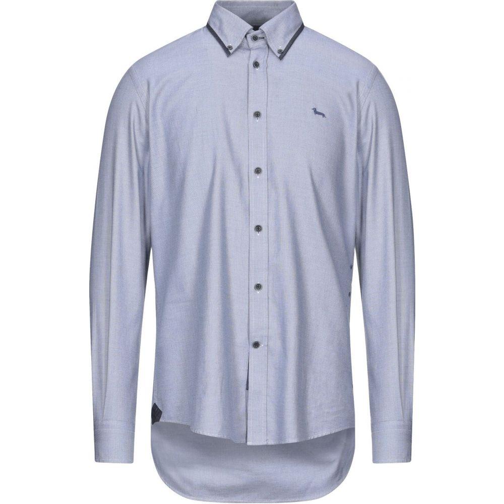 日本製 ハーモント アンド ブレイン HARMONT&BLAINE メンズ シャツ トップス【Patterned Shirt】Blue, オージーペットショップ 70956953