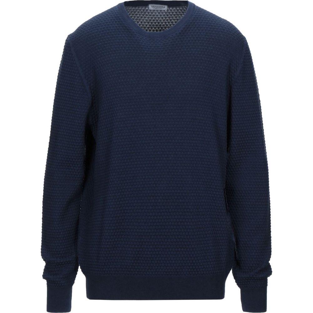 ベンゲラ メンズ トップス 超人気 ニット セーター Sweater 人気の製品 VENGERA サイズ交換無料 Blue