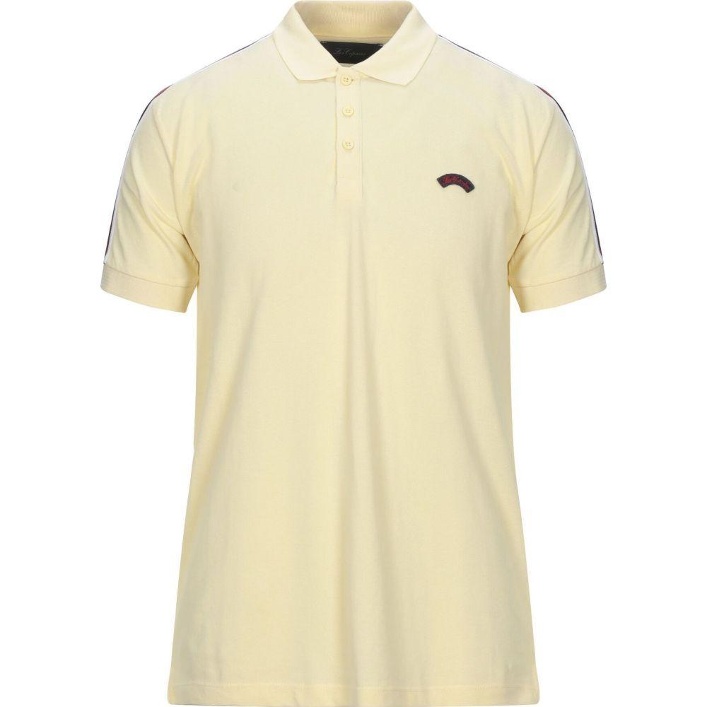 お歳暮 ブルー レ コパン BLUE LES COPAINS メンズ ポロシャツ トップス【Polo Shirt】Light yellow, 納得ショップ 1a799538