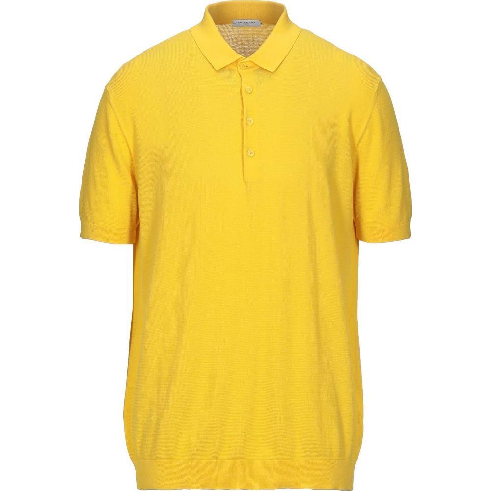 サービス パオロ ペコラ メンズ トップス ニット 高級 セーター PECORA PAOLO サイズ交換無料 Yellow Sweater