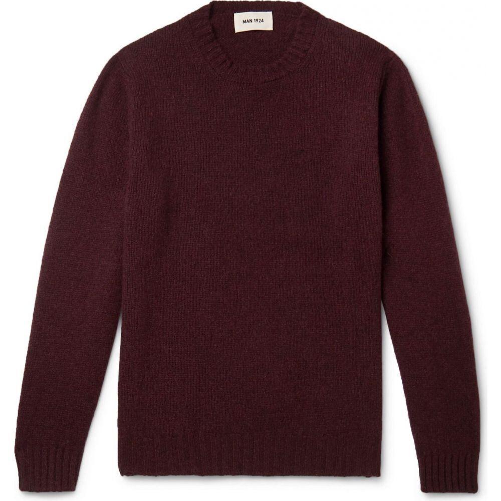 MAN 1924 メンズ トップス ニット Maroon 返品不可 サイズ交換無料 本物 Sweater セーター