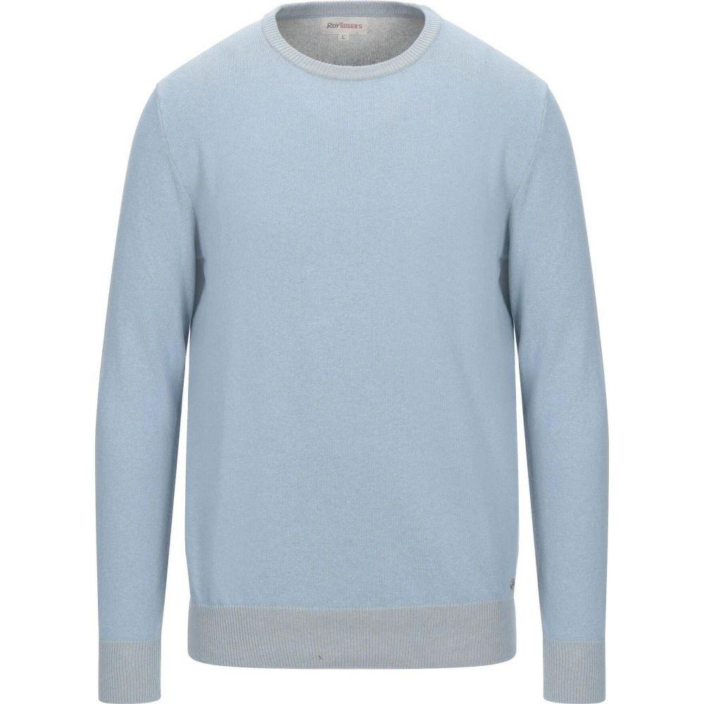 ロイロジャース メンズ トップス ニット 超人気 専門店 セーター 日本 Sky サイズ交換無料 blue ROGER'S Sweater ROY