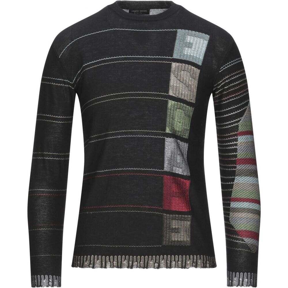 【高価値】 ロベルトコリーナ ROBERTO COLLINA メンズ ニット・セーター トップス【Sweater】Black, ショップ セフティ 383149a4