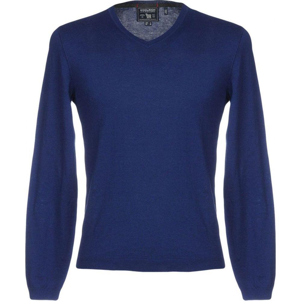業界No.1 ☆国内最安値に挑戦☆ ウールリッチ メンズ トップス ニット セーター Blue Sweater サイズ交換無料 WOOLRICH