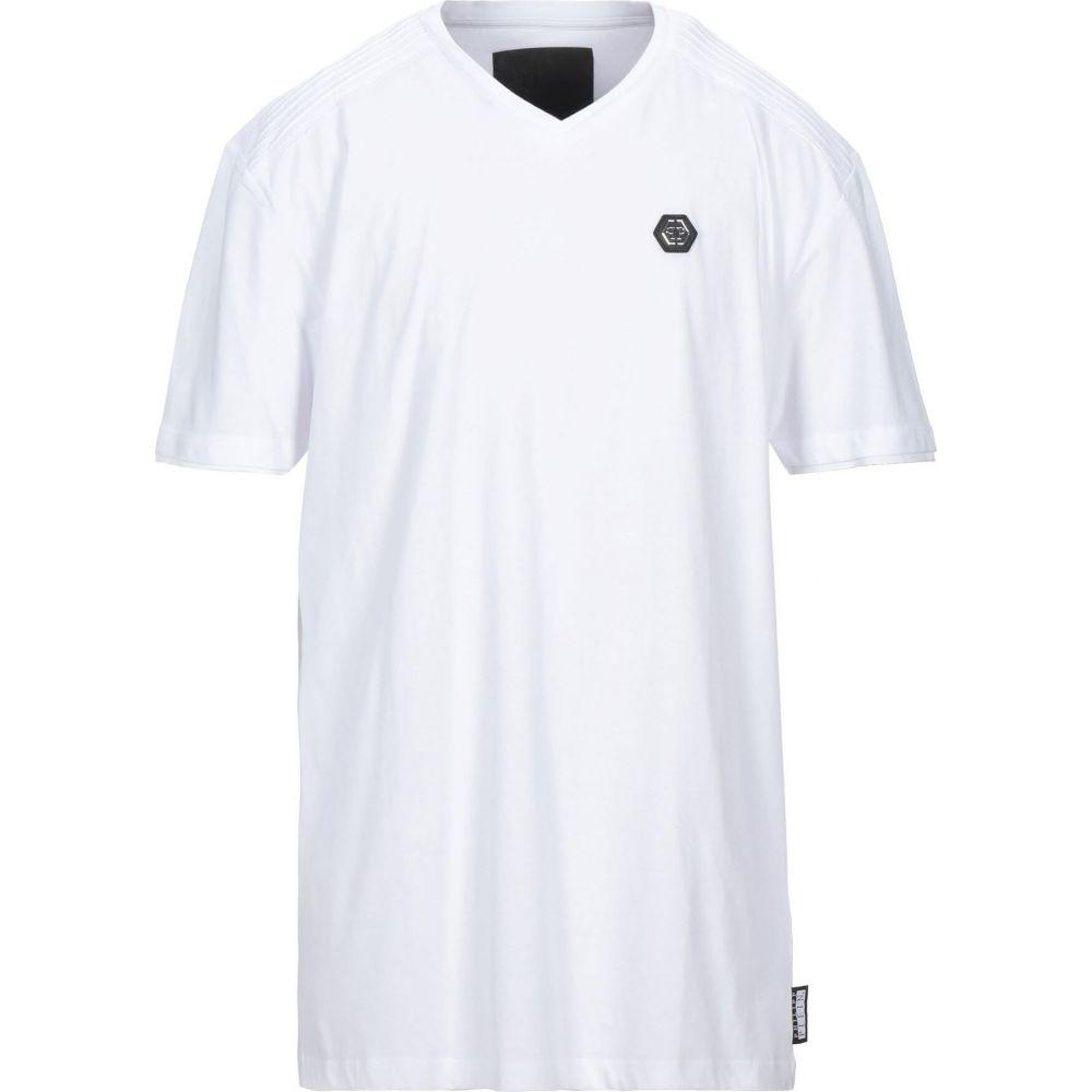 送料無料 フィリップ プレイン PHILIPP PLEIN メンズ Tシャツ トップス【T-Shirt】White, BAGAZIMURI(バガジモリ) 3c0a9ab3