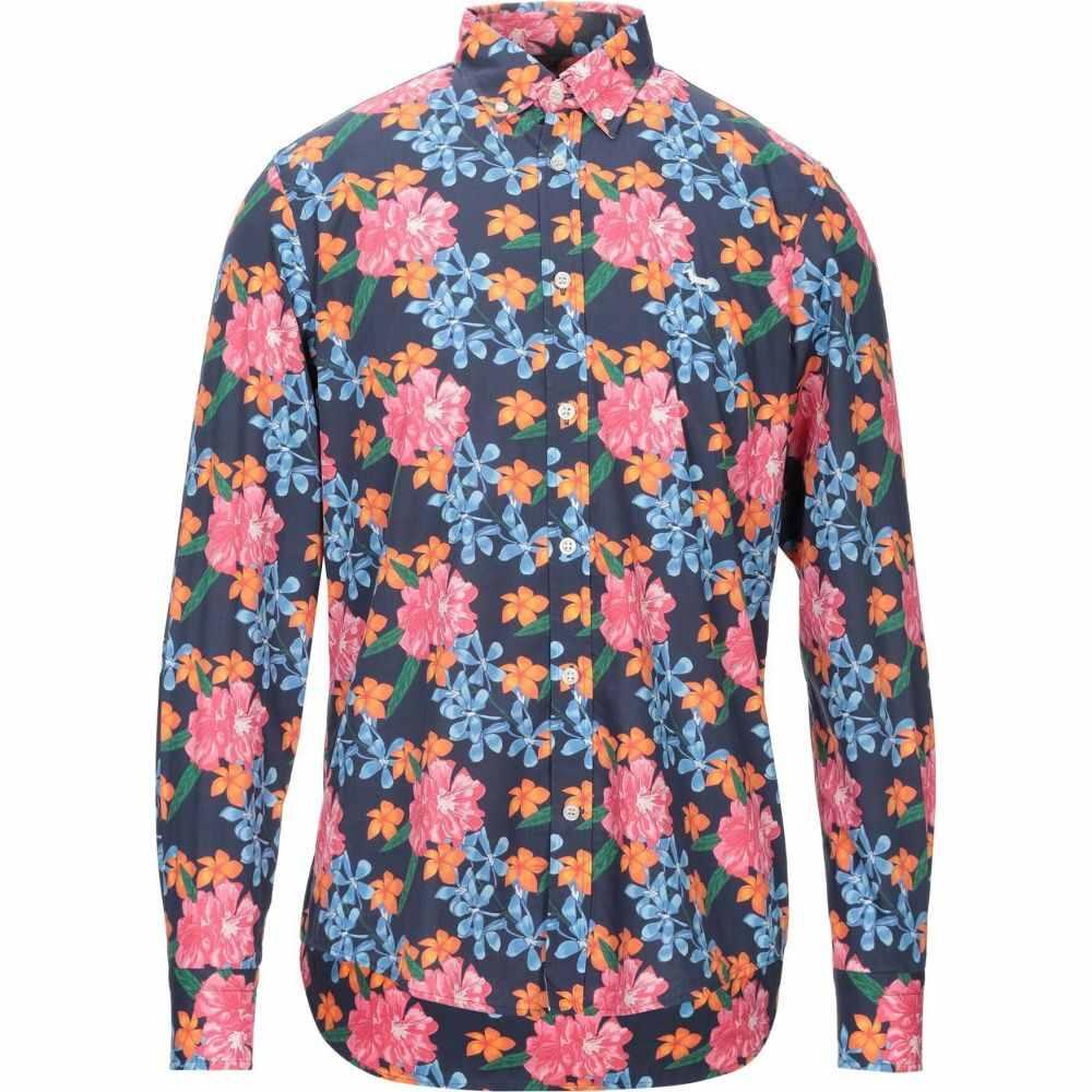 【第1位獲得!】 ハーモント アンド ブレイン HARMONT&BLAINE メンズ シャツ トップス【Patterned Shirt】Dark blue, 厨房卸問屋 名調 7926a88a