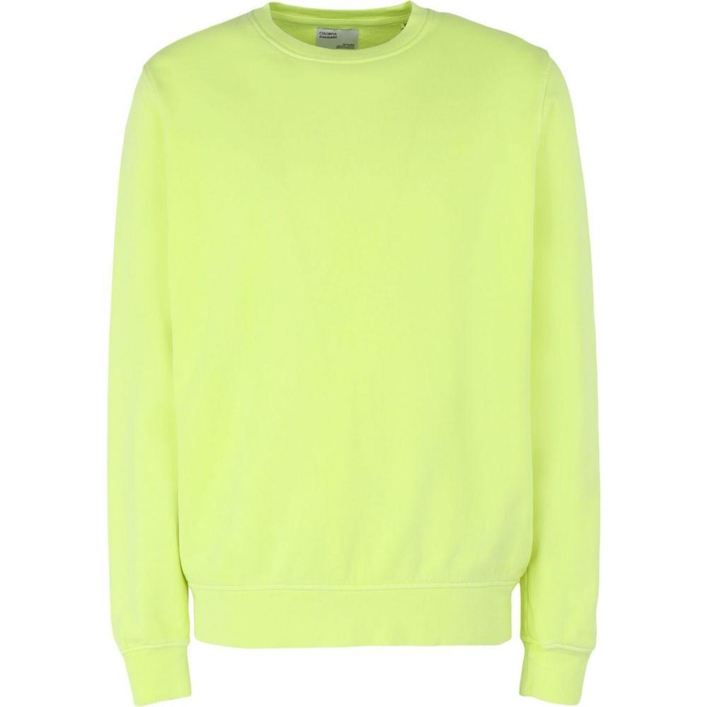 カラフルスタンダード COLORFUL STANDARD メンズ スウェット・トレーナー トップス【sweatshirt】Acid green