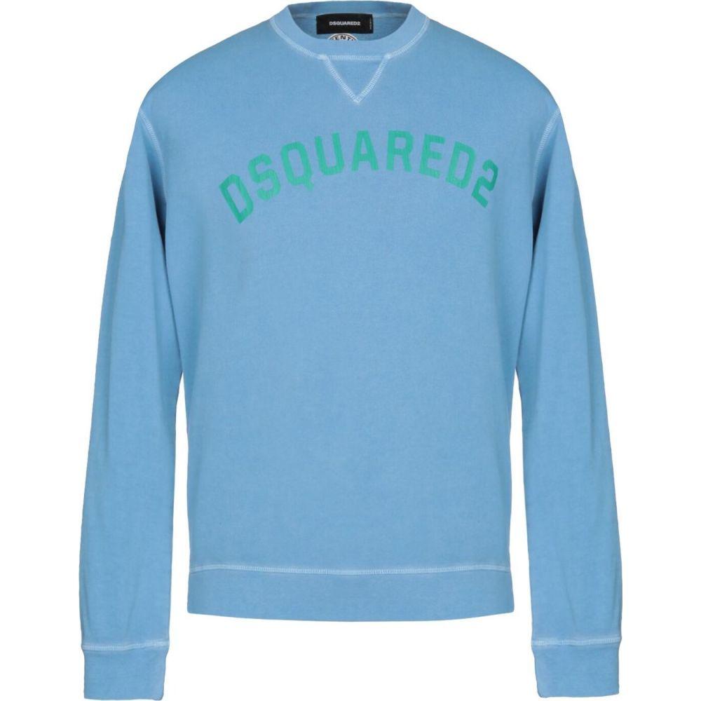 ディースクエアード DSQUARED2 メンズ スウェット・トレーナー トップス【sweatshirt】Turquoise