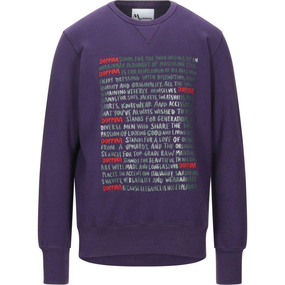 ドッピア アー DOPPIAA メンズ スウェット・トレーナー トップス【sweatshirt】Purple