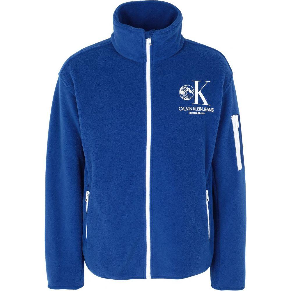 カルバンクライン CALVIN KLEIN JEANS メンズ スウェット・トレーナー トップス【sweatshirt】Bright blue