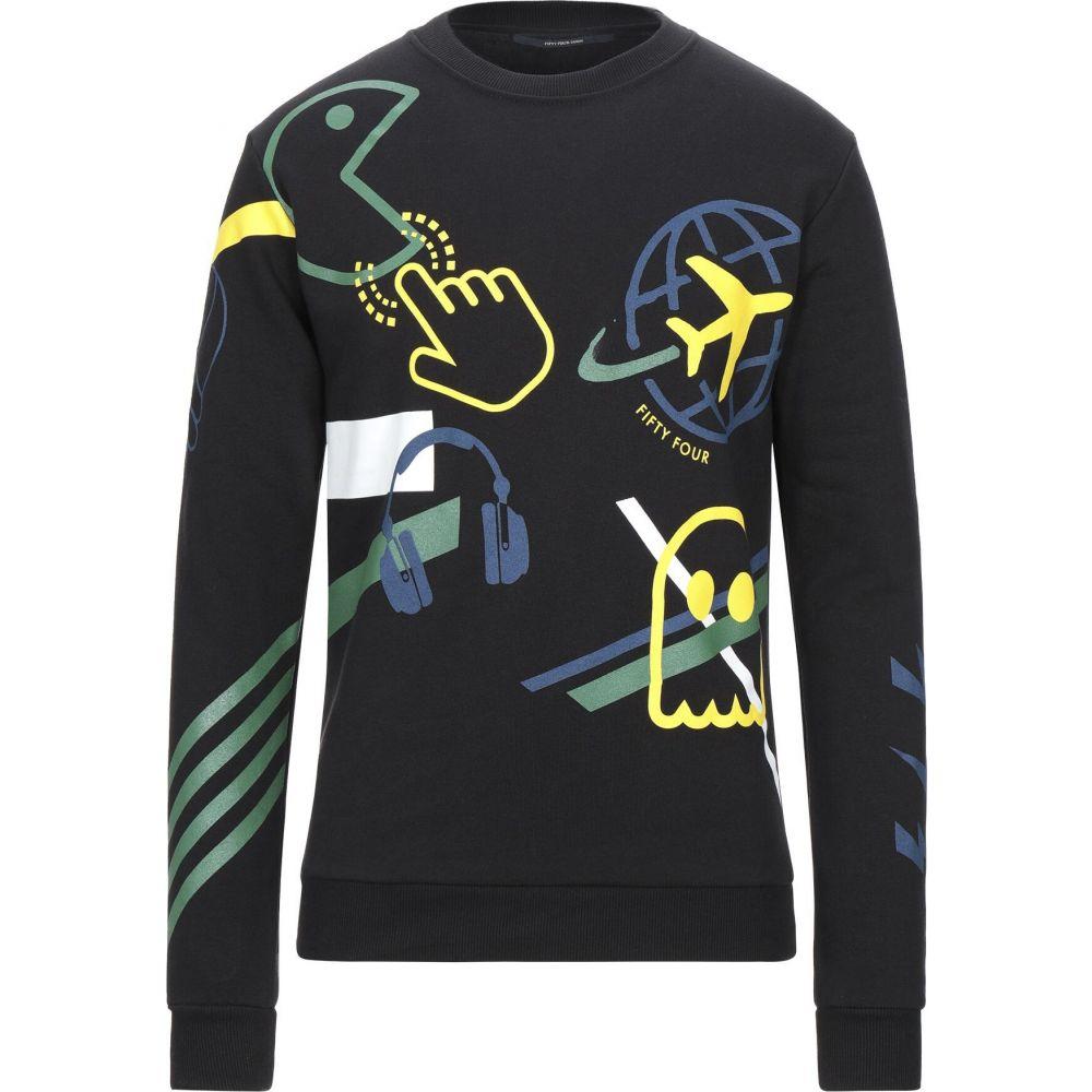 フィフティー フォー FIFTY FOUR メンズ スウェット・トレーナー トップス【sweatshirt】Black