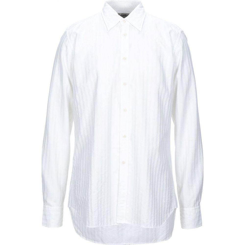 高級ブランド ベヴィラクア BEVILACQUA メンズ シャツ トップス【Solid Color Shirt】White, グッドライブ 8b2a1c15