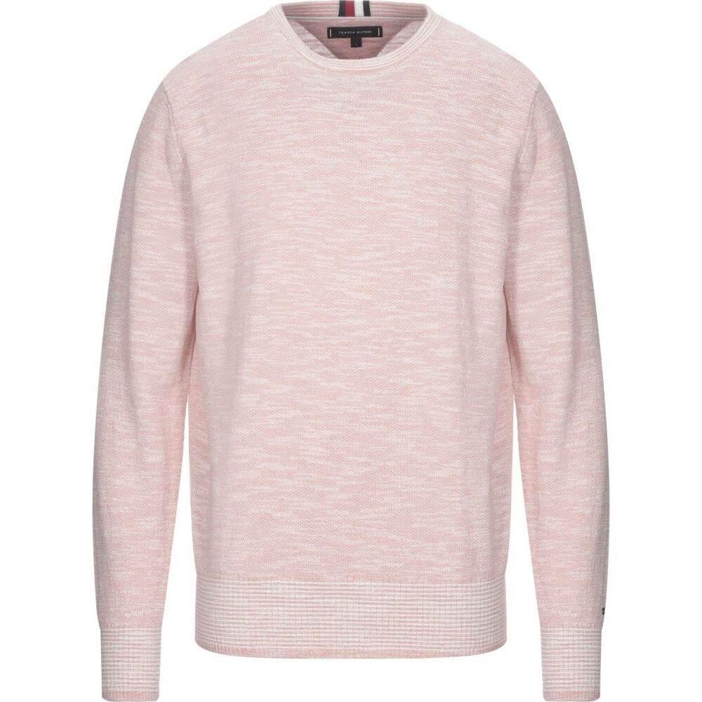 トミー ヒルフィガー メンズ 永遠の定番モデル トップス ニット セーター サイズ交換無料 HILFIGER Sweater 通販 TOMMY Pink
