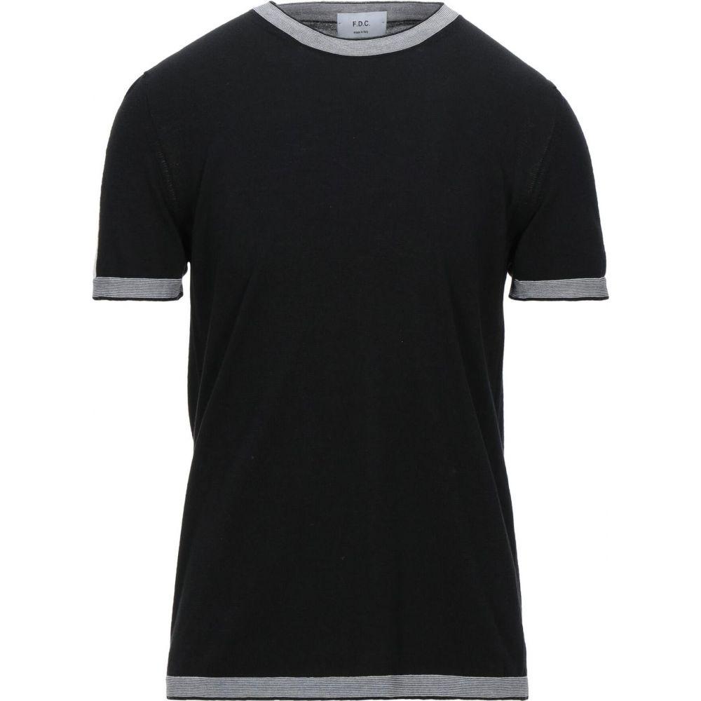 ファブリツィオ デル カルロ メンズ トップス ニット WEB限定 セーター ギフト CARLO FABRIZIO DEL Black Sweater サイズ交換無料