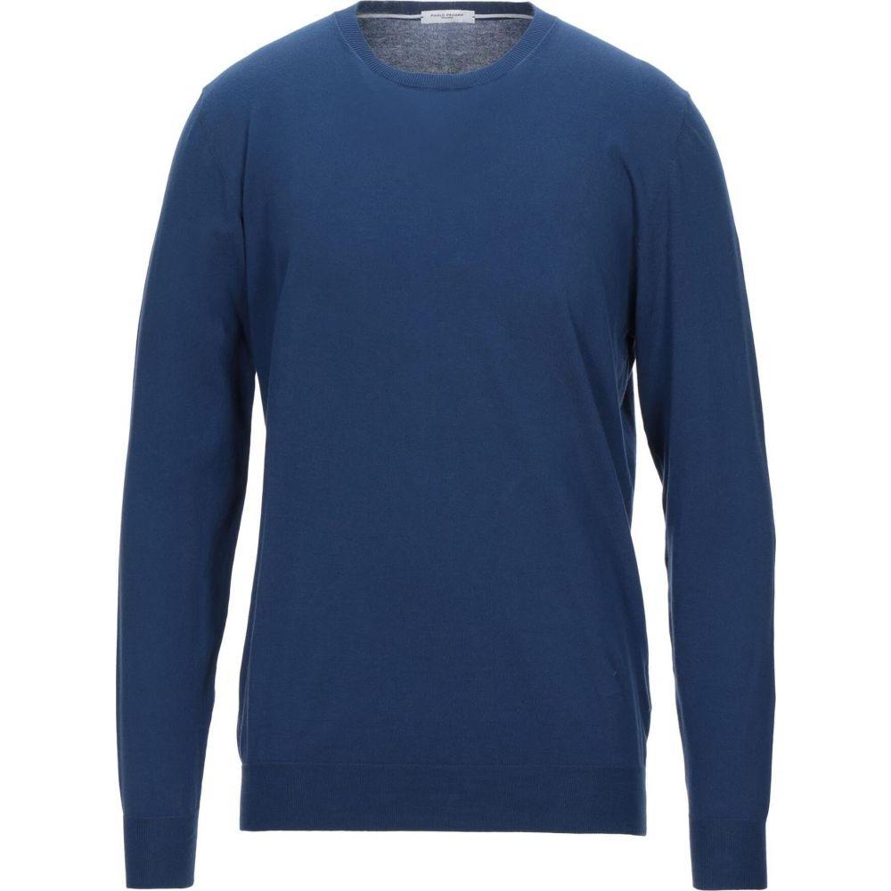 パオロ ペコラ メンズ 新着セール トップス ニット セーター サイズ交換無料 Dark PAOLO blue 本日の目玉 Sweater PECORA