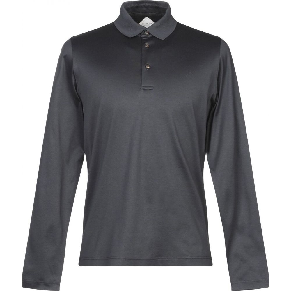 2021高い素材  パルジレリ PAL ZILERI メンズ ポロシャツ トップス【Polo Shirt】Steel grey, ボルカノスパゲッチ 6fe9d8e7