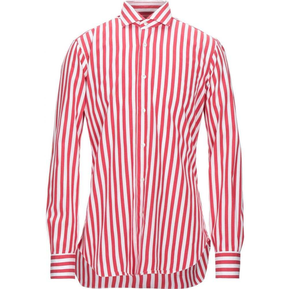 【在庫処分大特価!!】 バルバ BARBA Napoli メンズ シャツ トップス【Striped Shirt】Red, 市来町 999c0962